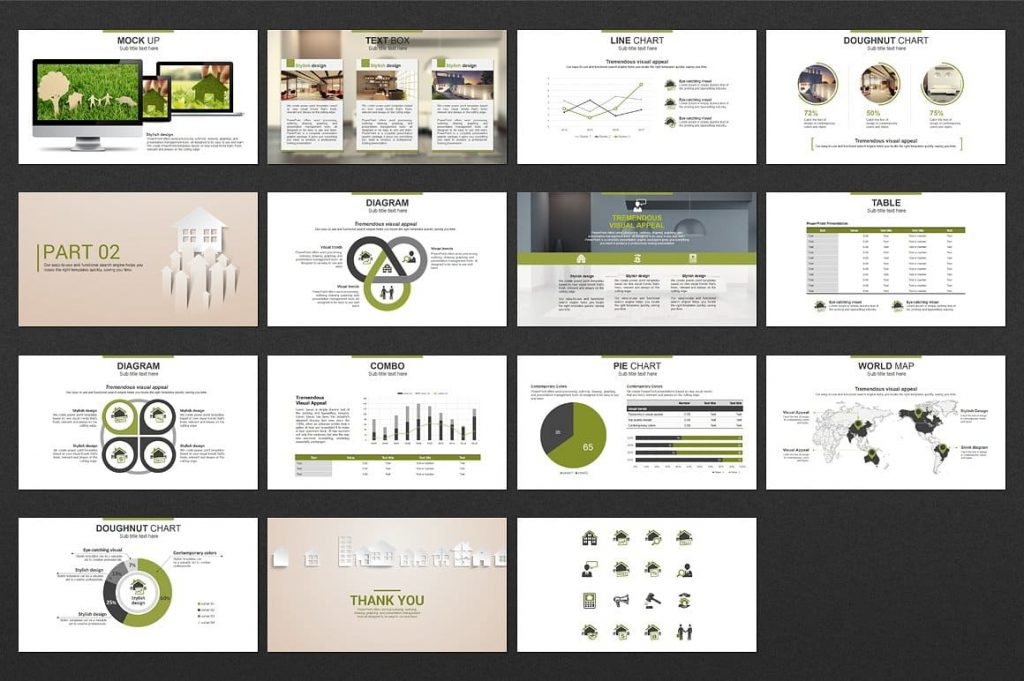 Slides Preview Real Estate PowerPoint Template.
