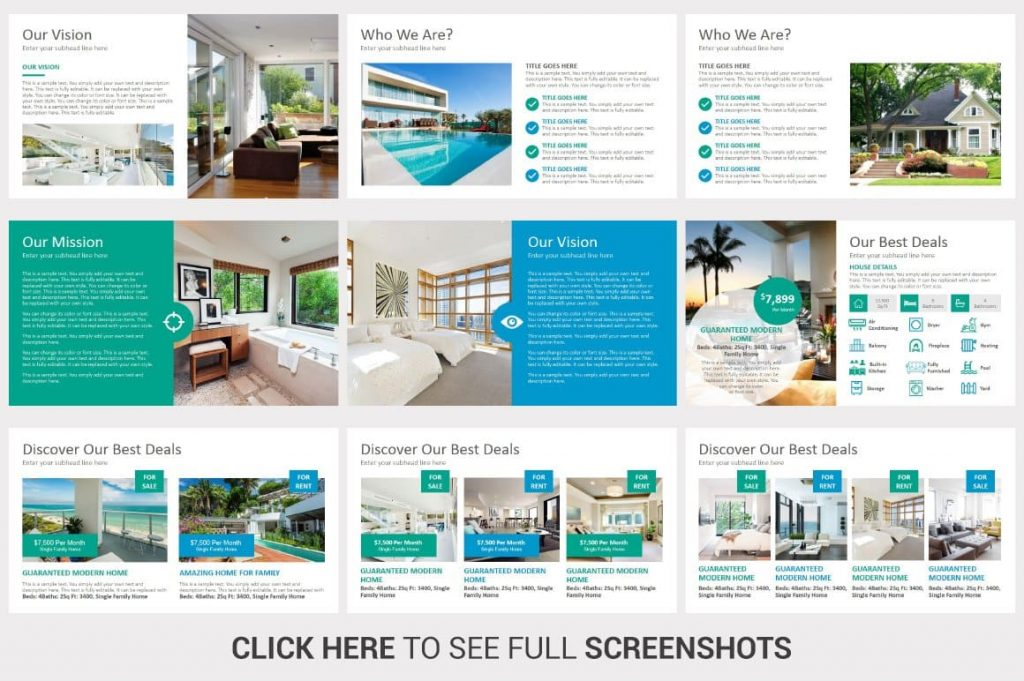 Fully editable Real Estate PowerPoint Template.