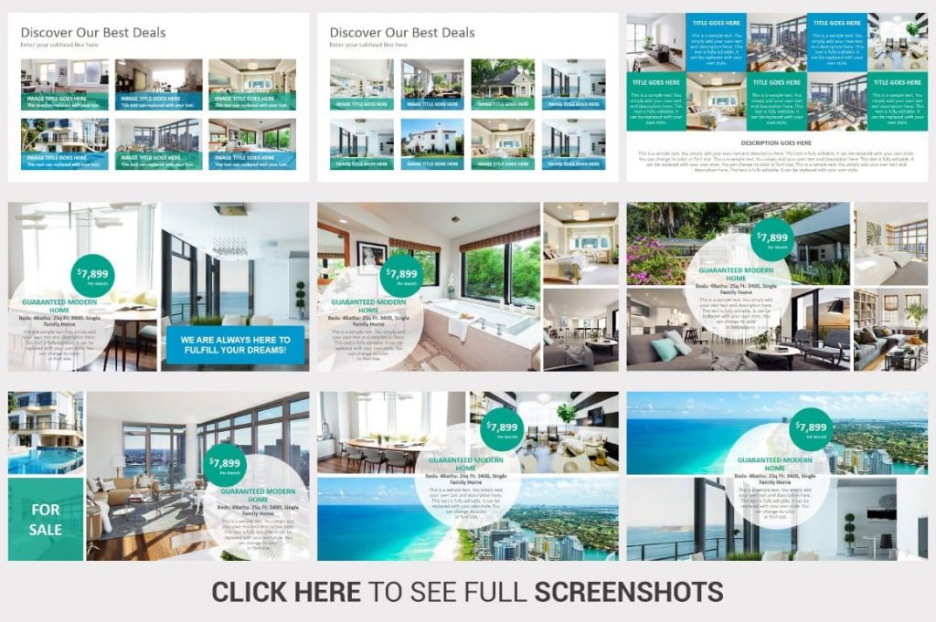 Easy editable content Real Estate PowerPoint Template.
