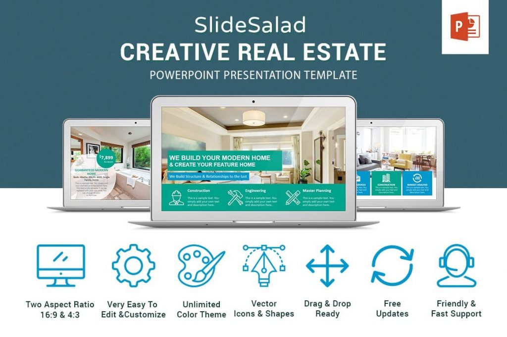 Key Features of Real Estate PowerPoint Template.