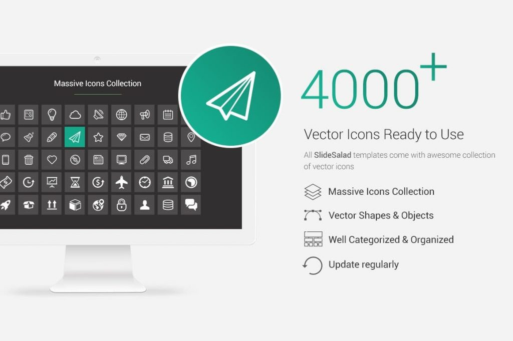 4000+ Vector Icons Real Estate PowerPoint Template.