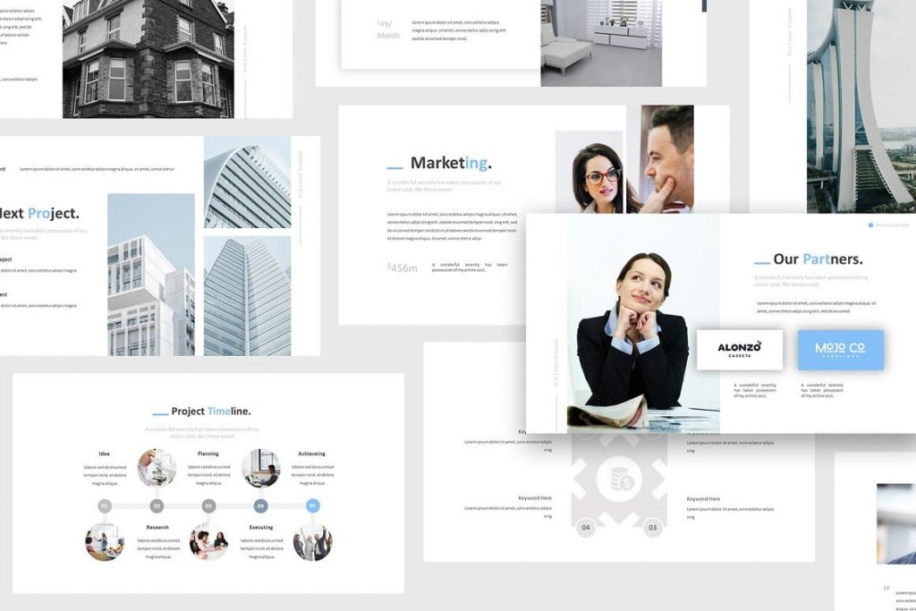 Sample Slides Real Estate Powerpoint Template.