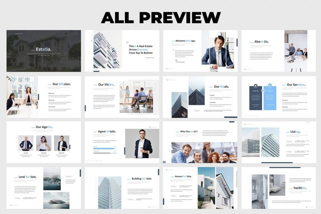 Overlay Picture Effect Real Estate Powerpoint Template.