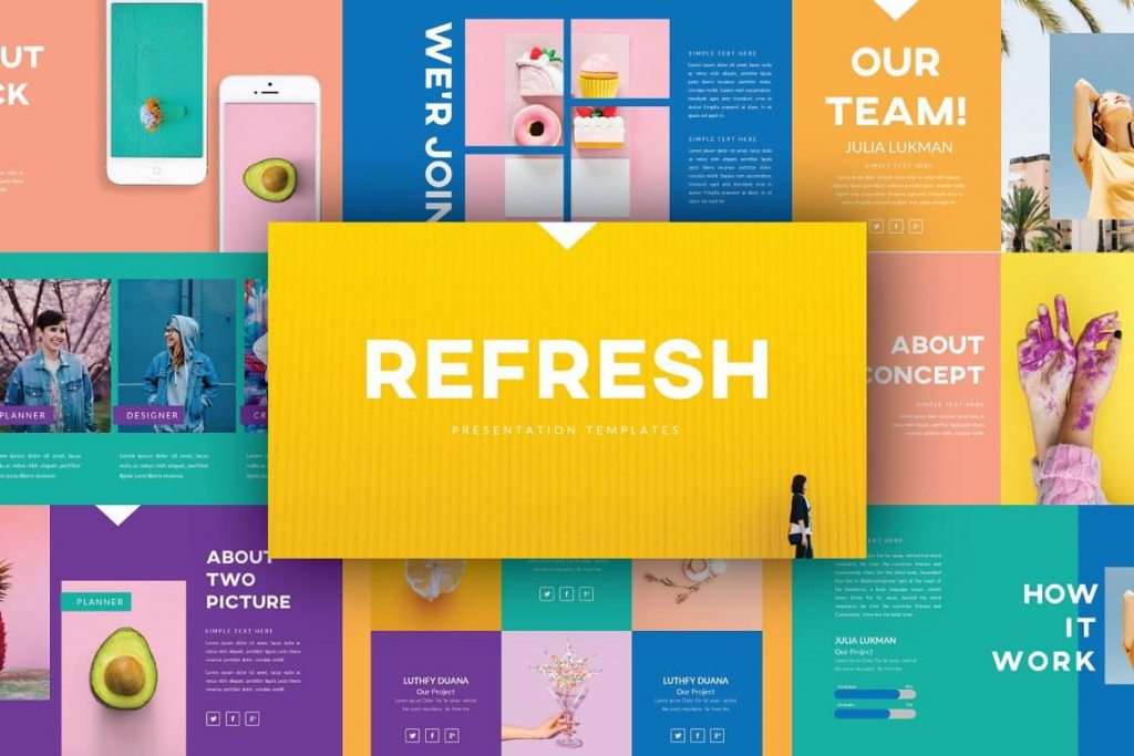 Refresh Powerpoint Template Slide Preview.