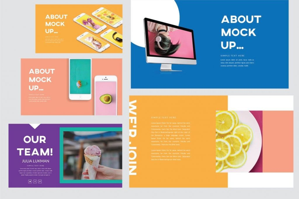 Device Mockup Refresh Powerpoint Template.