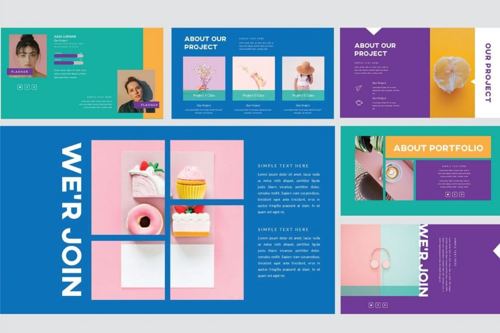 Submit About Project for Refresh Powerpoint Template.