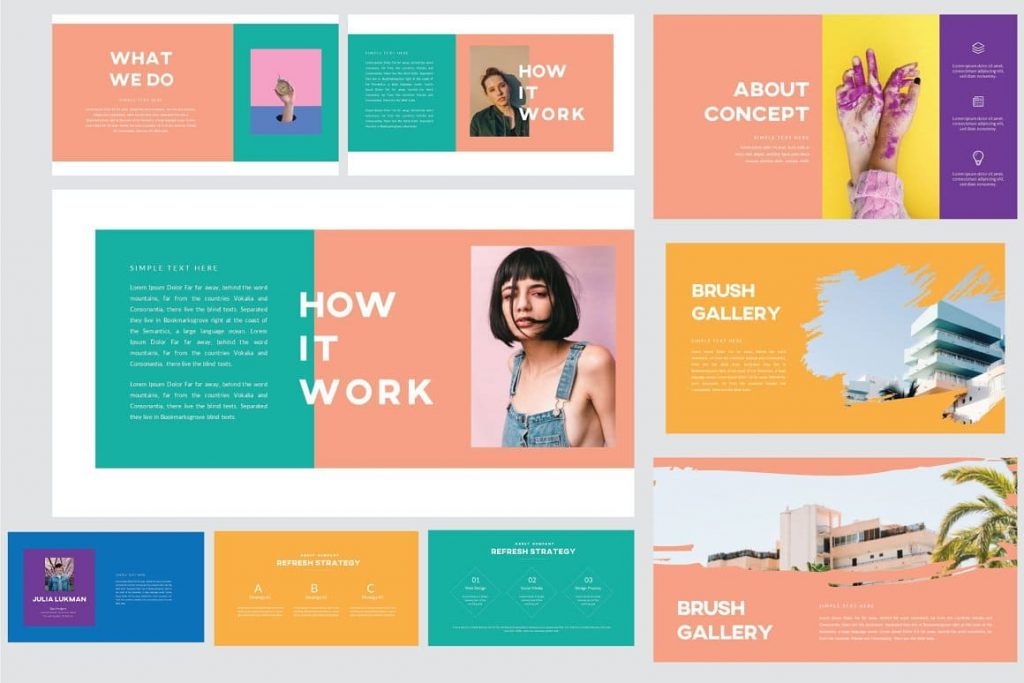 Creative Slides for Refresh Powerpoint Template.