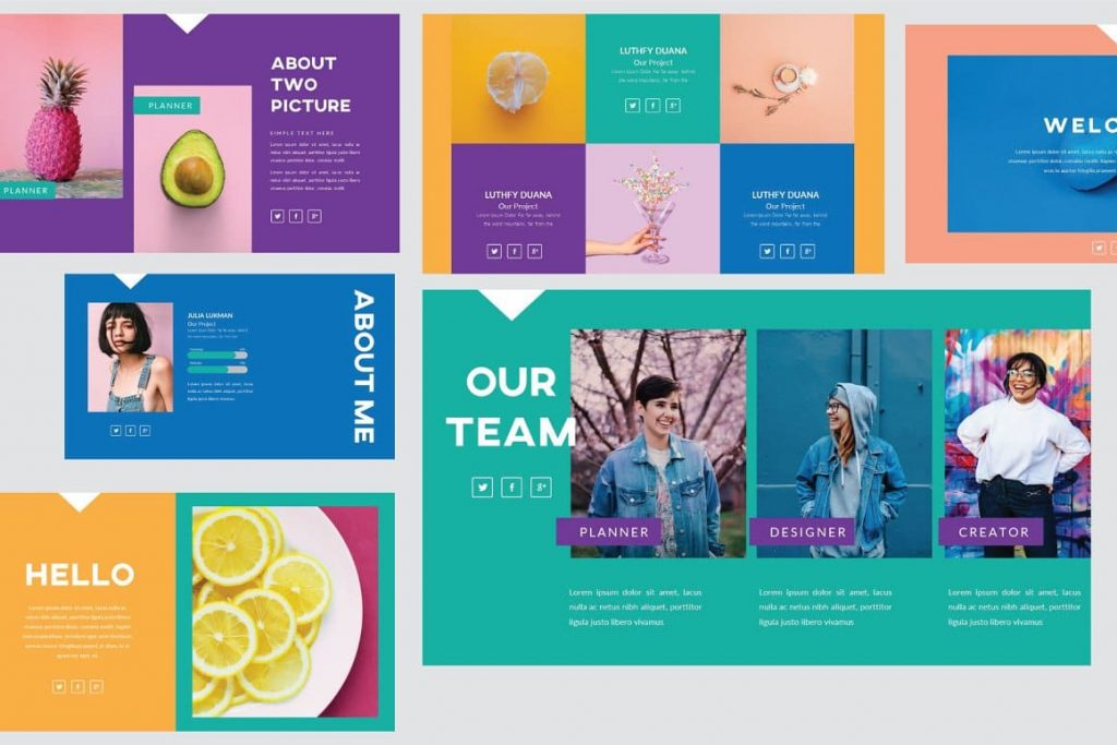 Preview of 50 Slides Refresh Powerpoint Template.