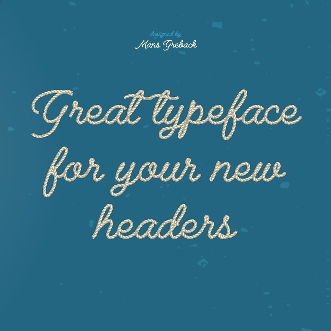 MasterBundles Rope Font Free Example Collage Image.