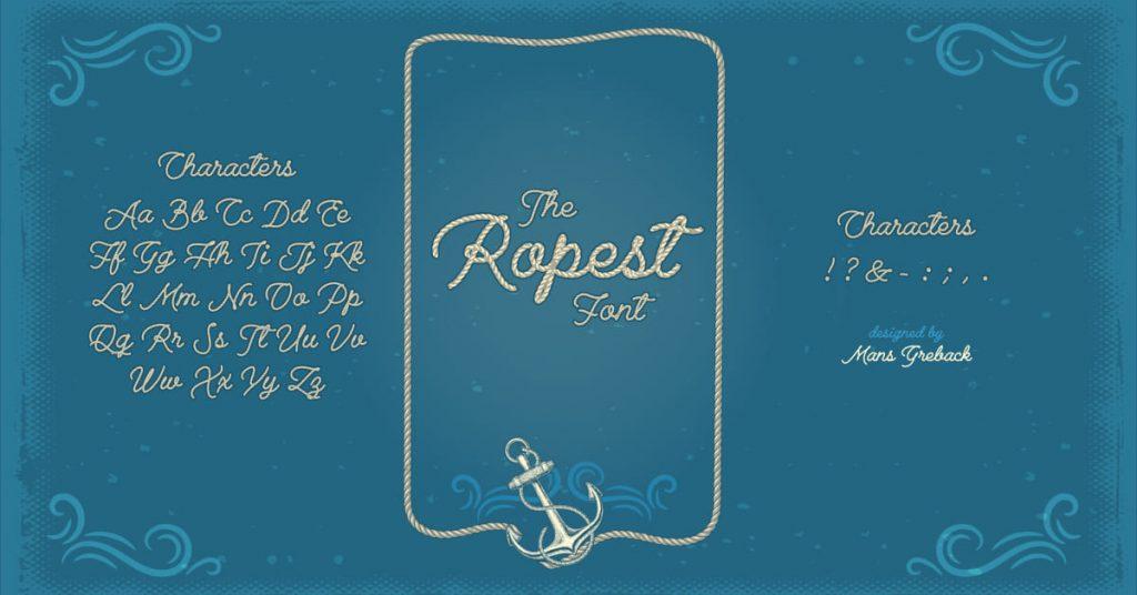 MasterBundles Rope Font Free Facebook Collage Image