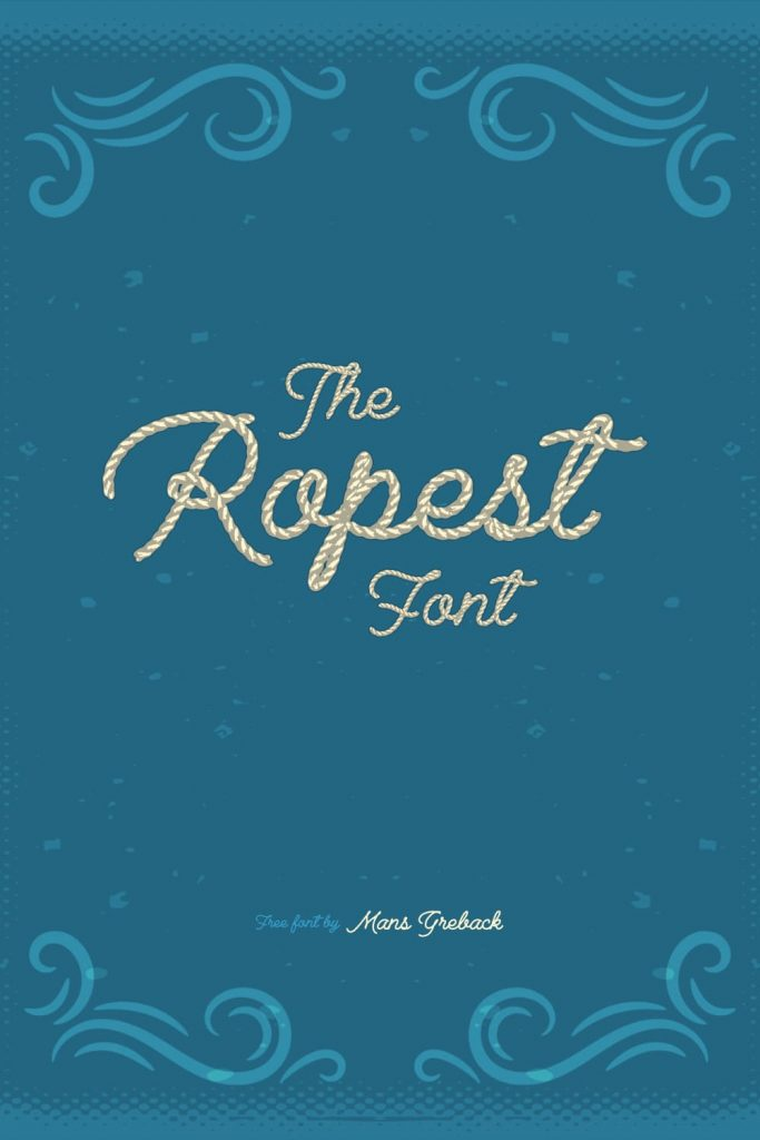 Rope Font Free Awesome Pinterest Preview by MasterBundles.