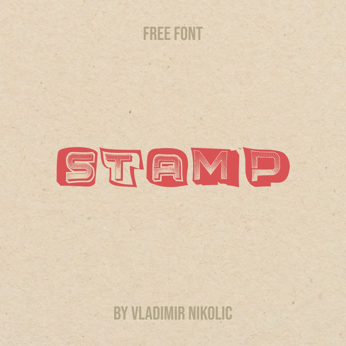 Stamp Font Free Main Cover.