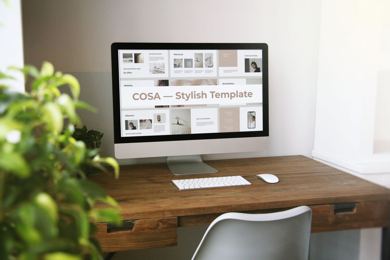 Desktop option of COSA - Keynote Style Template.