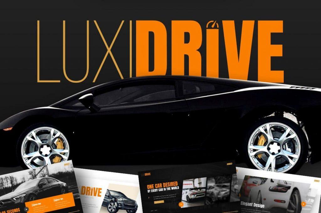 Cover of Luxidrive Automotive Presentation.