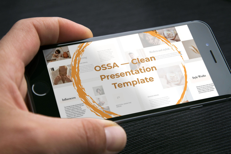 OSSA Google Slides Template by MasterBundles mobile preview mockup image.