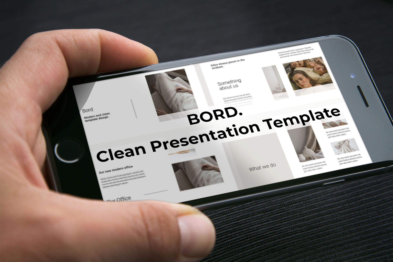 BORD Google Slides Template by MasterBundles mobile preview mockup image.