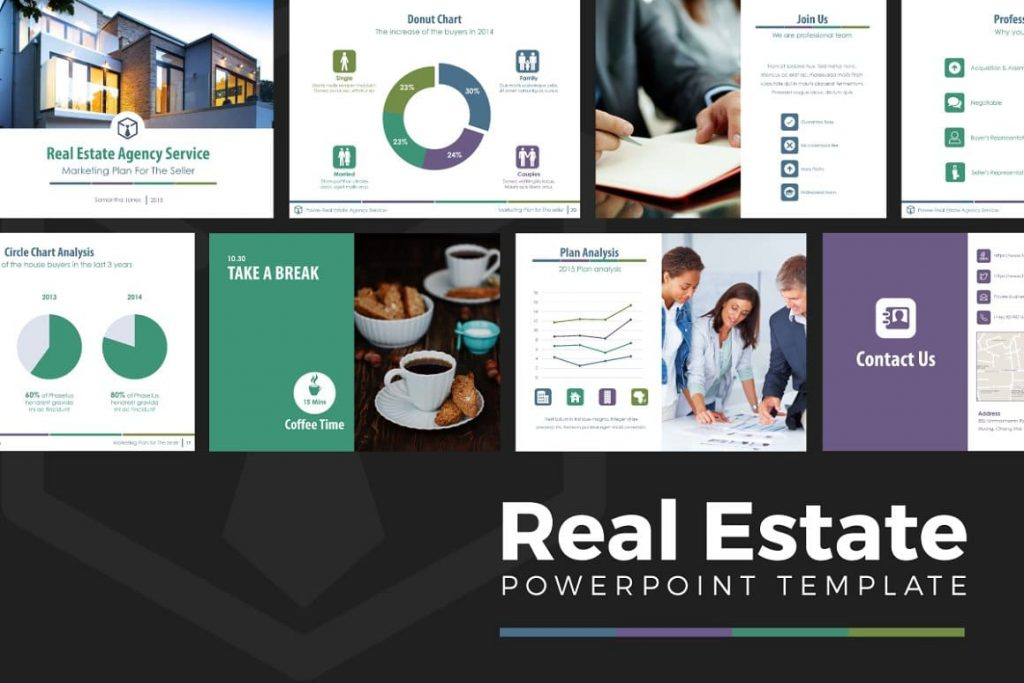 Cover for Real Estate PowerPoint Template V.1.