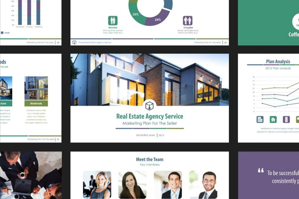 Slide Previews Real Estate PowerPoint Template V.1.