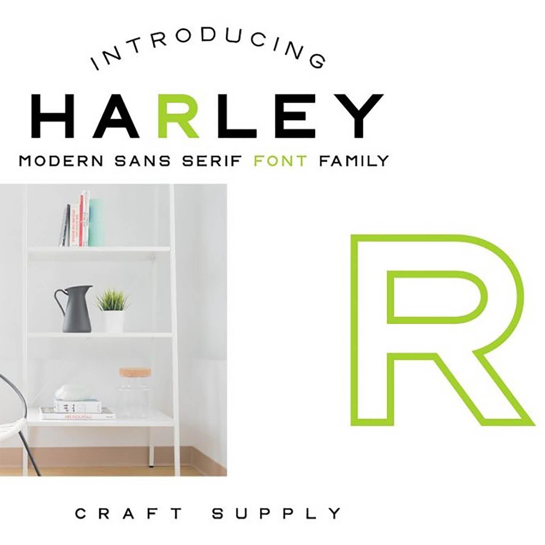 CS Harley Font Family outline cover image.