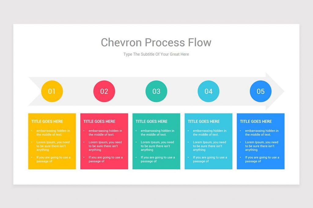 90 color themes Process Flow PowerPoint.