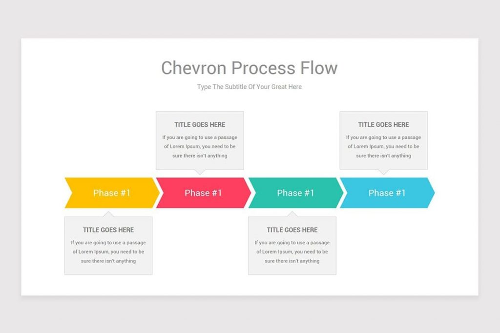 Compatible with Powerpoint Chevron Process Flow.