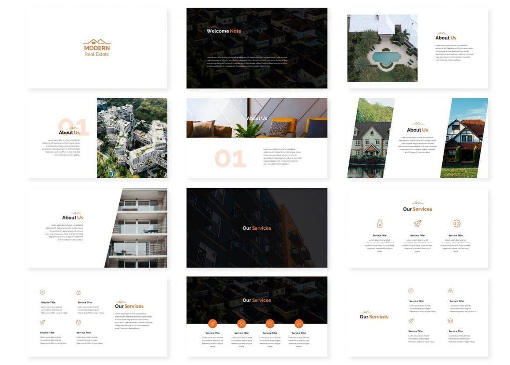 Sample Slides Modern Real Estate Google Slides.