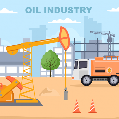 15 Oil Gas Fuel Industry Vector Illustration cover image.