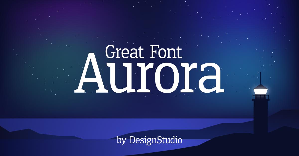 Aurora Monospaced Serif Font Facebook cover image.