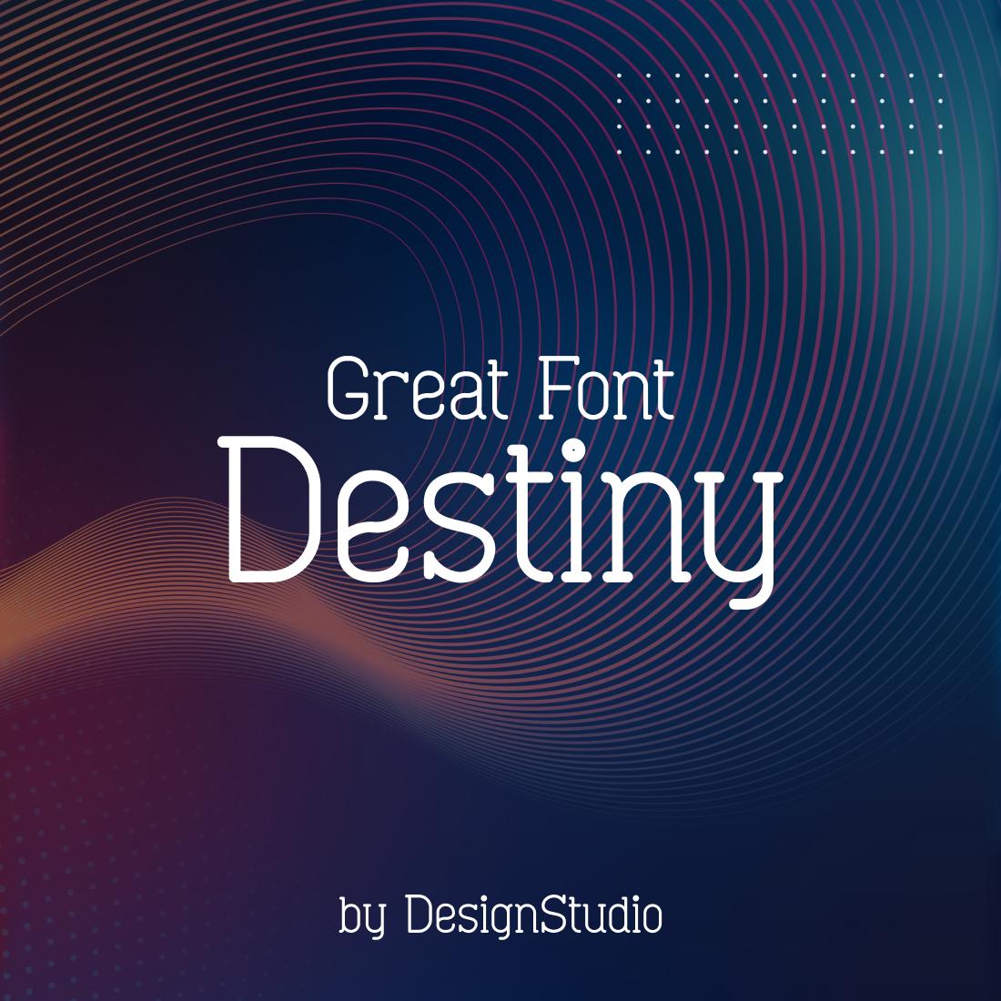 Destiny Monospaced Serif Font cover image.