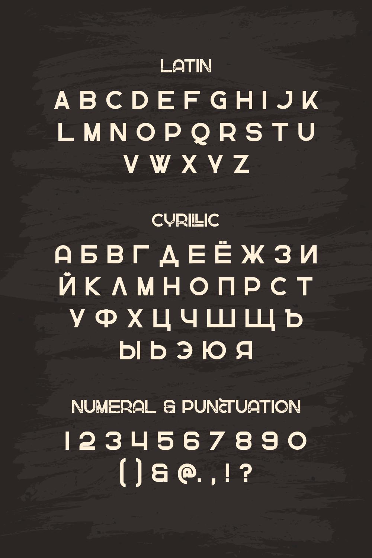 Greenth Display Latin Cyrillic Font Pinterest image.