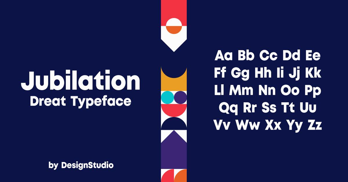 Jubilation Monospaced Sans Serif Font.