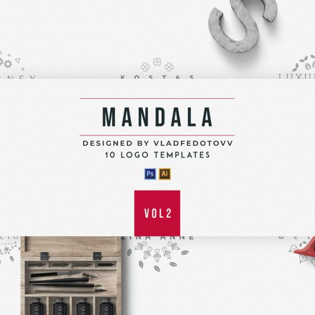 Mandala Logo Creator Mandala 10 Logo Templates cover image.