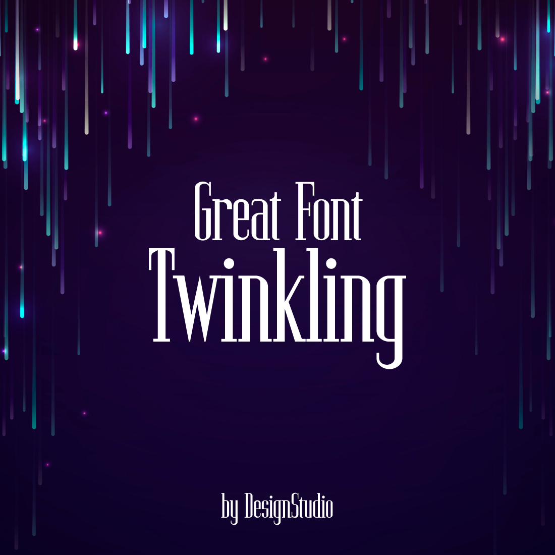 Twinkling Monospaced Serif Font cover image.