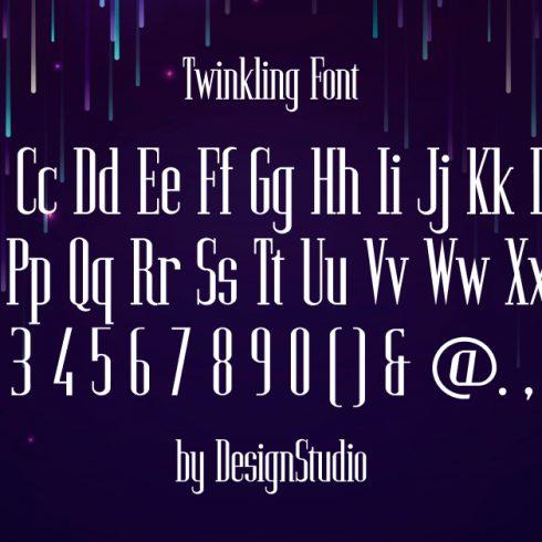 Twinkling Monospaced Serif Font.