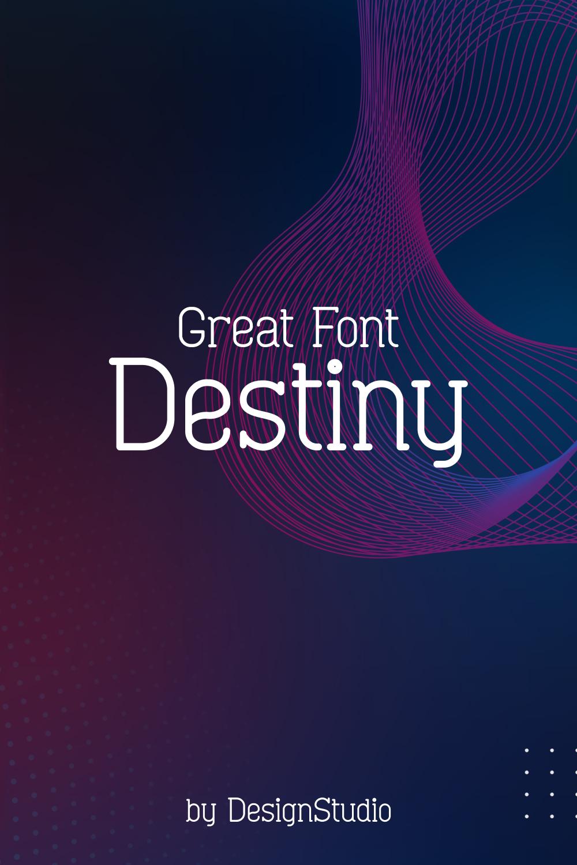 Gradient purple with stylish font.