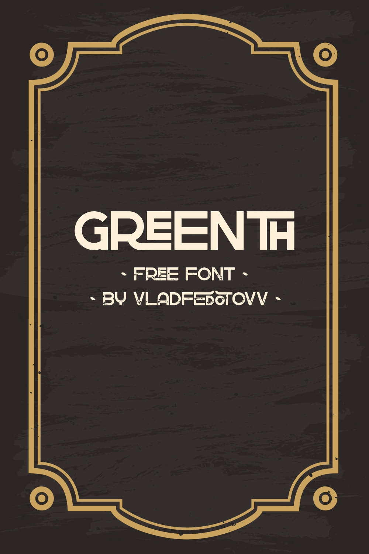 02. Greenth Display Latin Cyrillic Font 1000 x 1500