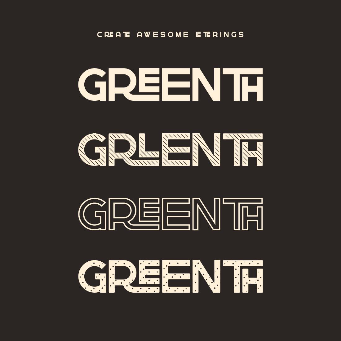 Greenth Display Latin Cyrillic Font cover image.