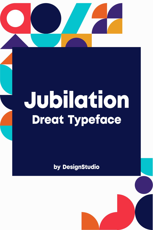Jubilation Monospaced Sans Serif Font Pinterest Preview.