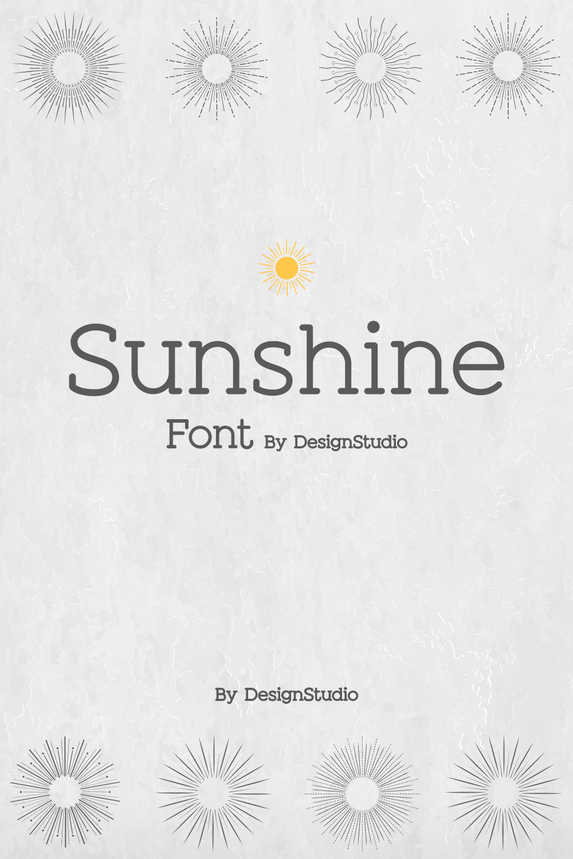 Sunshine Slab  Sans Serif Font Pinterest Preview.