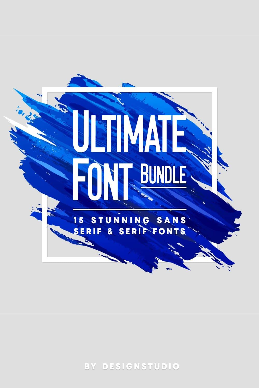 Ultimate Font Bundle 15 Stunning Sans Serif Serif Fonts.