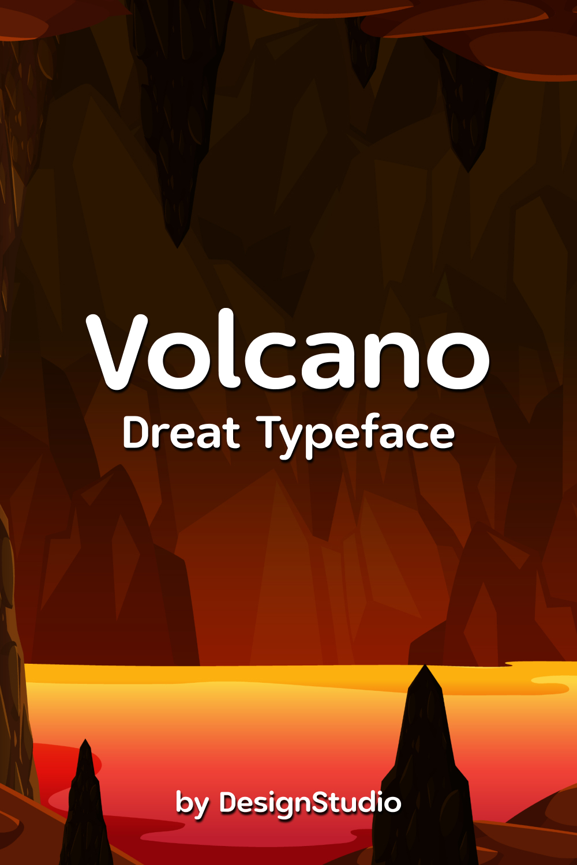 Volcano Monospaced Sans Serif Font Pinterest Preview.