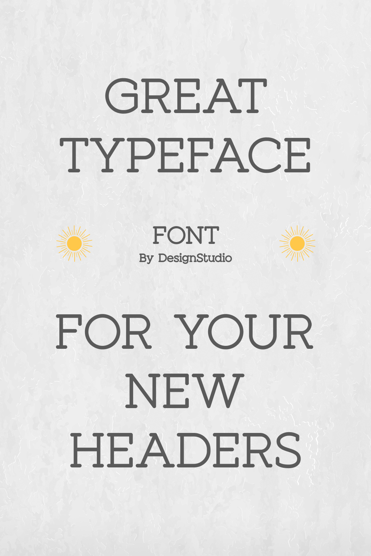 Sunshine Slab Sans Serif Font Add a little sun to your project.