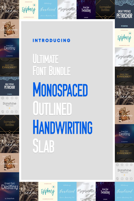 Ultimate Font Bundle: 15 Stunning Sans Serif & Serif Fonts  Pinterest image.