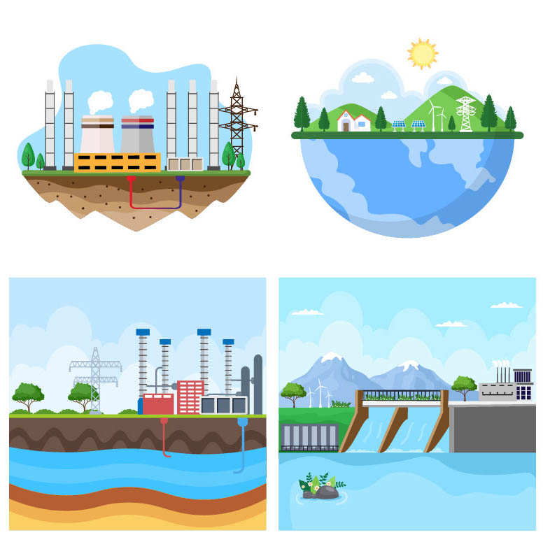 21 Ecological Sustainable Energy Supply Illustrations cover image.