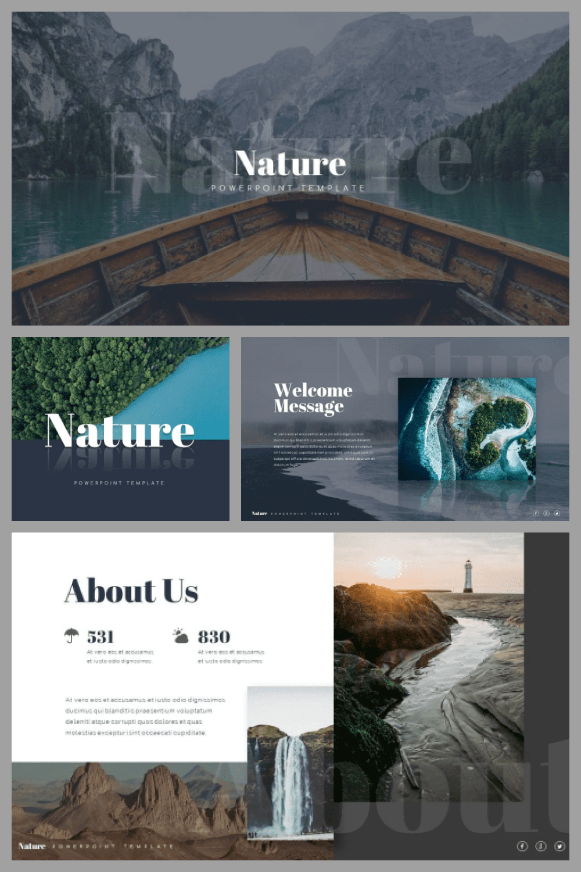 Nature Presentation Template - MasterBundles - Pinterest Collage Image.