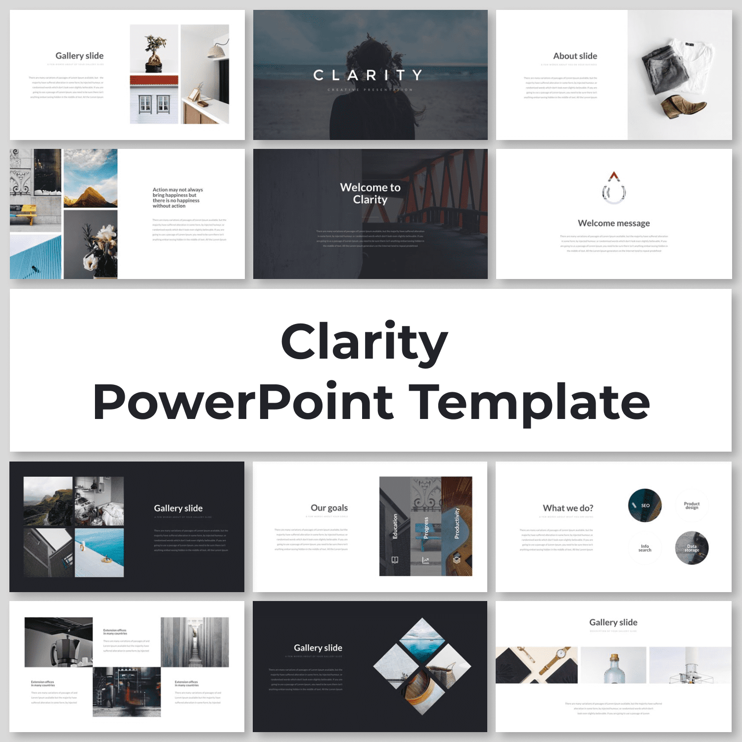 Clarity PowerPoint Template by MasterBundles.