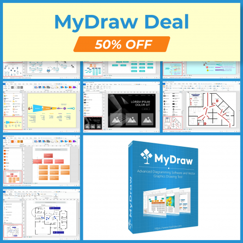 MyDraw Deal: Create Professional Diagrams with 50% OFF cover image.