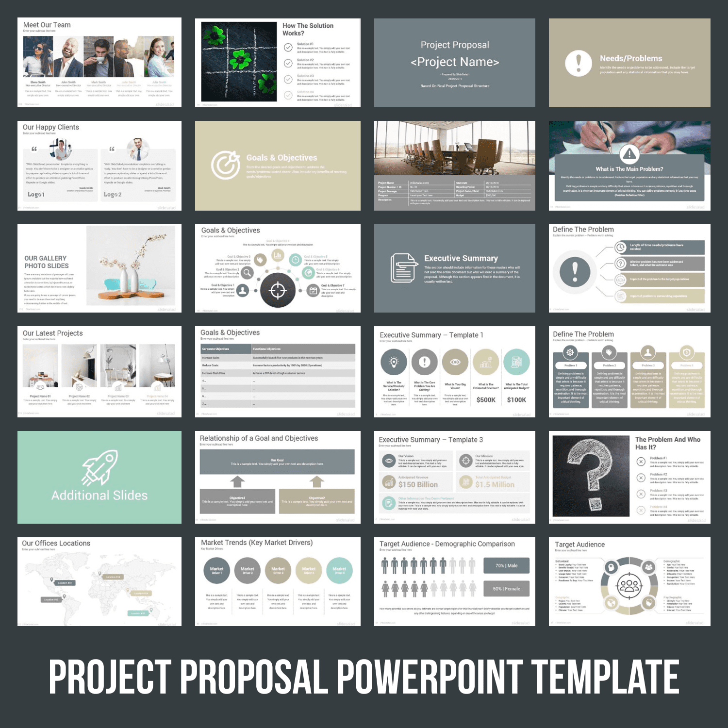 Project Proposal PowerPoint Template by MasterBundles.