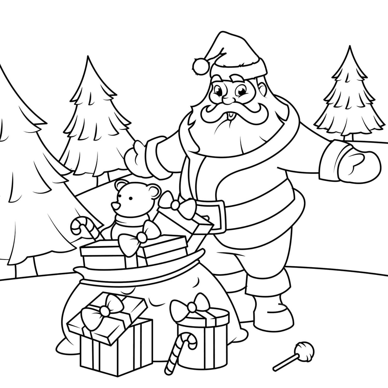 Santa Claus with gifts cover image.