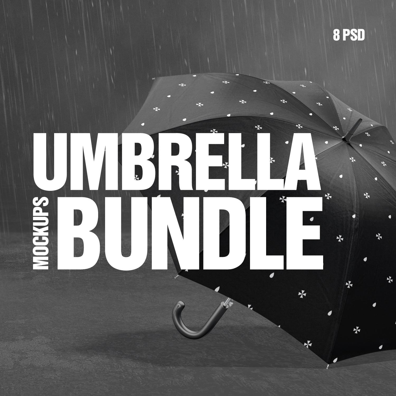 Umbrella Mockups Bundle cover image.